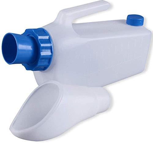 LOVEQIZI Männliche Urinflasche Umweltschutz Tragbares auslaufsicheres Urinal aus Kunststoff für Mich Auslaufsicheres Urinal aus Kunststoff für Urinabscheider für alte Männer,2000ML