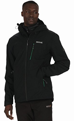 Regatta Herren Wentwood II Wasserfeste Jacke, schwarz/schwarz, XL