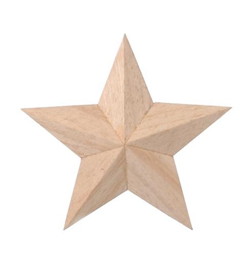 Darice 919150 Wood 3D Star 4Inch