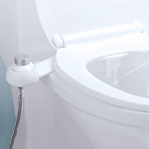 LUSHUN No Electrico Agua pulverizador de Boquilla Doble práctico, Pulverizador para Asiento de Inodoro bidé, Ass Boquilla Pulverizador de Agua fría