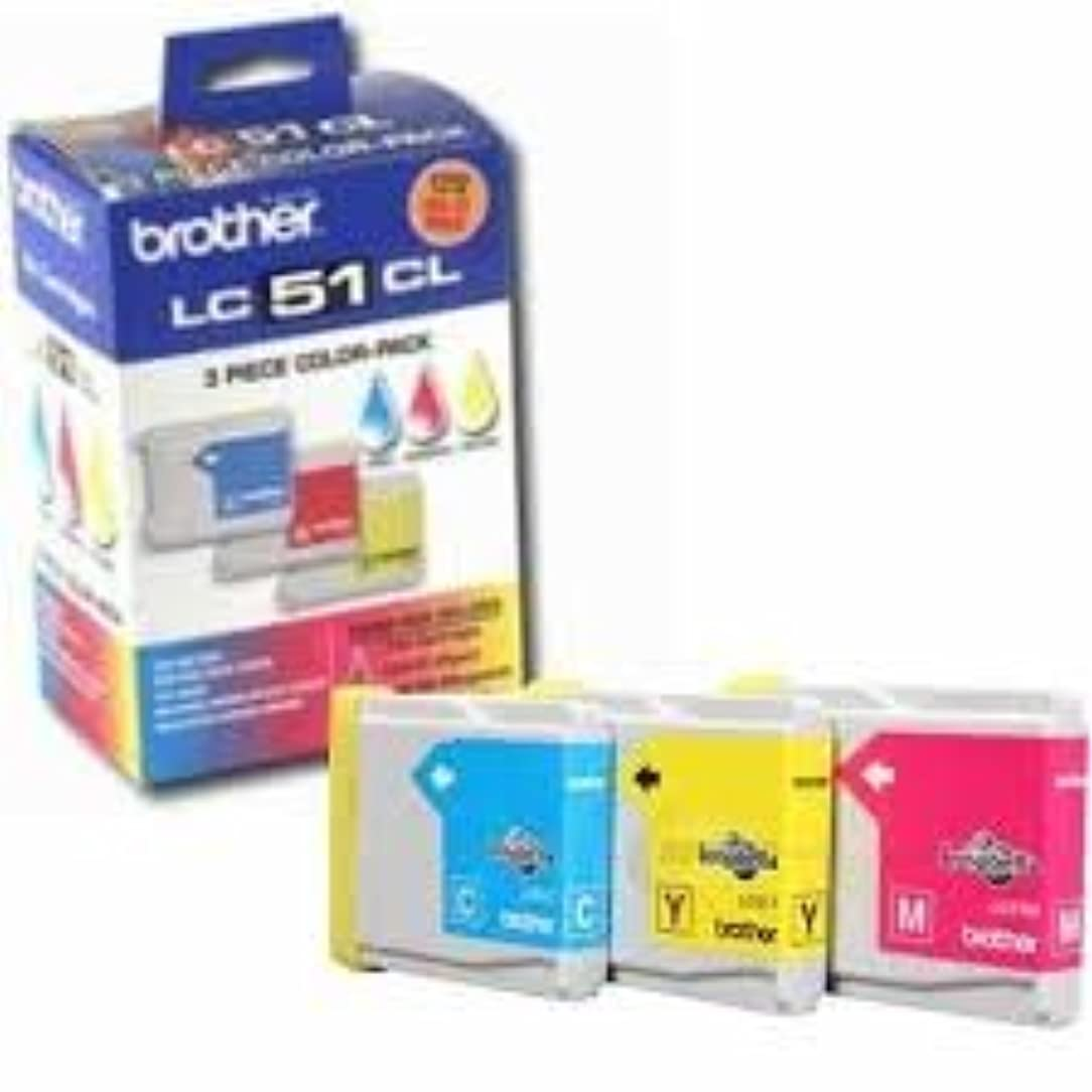 Brother Genuine Brand Name, OEM LC513PKS (LC-513PKS) Rainbow Inkjet Pack LC-51C LC-51M LC-51Y for DCP-130C, IntelliFax 1860C, MFC-240C, MFC-440CN, MFC-665CW, MFC-3360C, MFC-5460CN, MFC-5860CN Printers