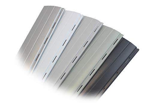 Vervangende rolluiken ALU Mini grijs (37 x 8 mm), op maat gemaakt door smarotech® Duitsland.