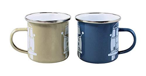 Brisa VW Collection T1Emaille-Becher, blau/grau, 2Stück
