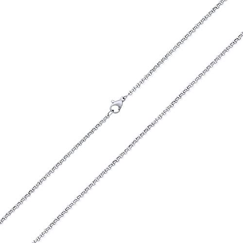 Bling Jewelry Unisex Simple Thin 2.5MM Basic Plain Silver Tone Stainless Steel...