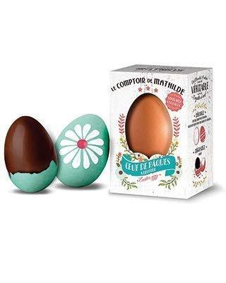 Le Comptoir de Mathilde Real cáscara de huevo relleno con praliné de chocolate - 1 x 50 gramos