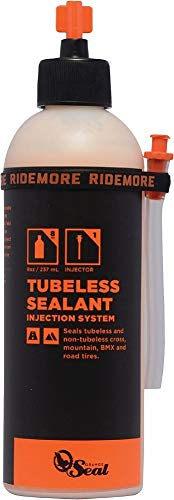 Orange Seal Cycling Tubeless Tire Sealant with Injection System, 8 oz