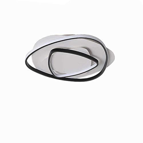 Lámpara de techo LED de 80 W, sencilla y moderna, lámpara de salón, regulable sin niveles, con mando a distancia, para dormitorio, habitación, cocina, oficina, pasillo, 3000 – 6000 K