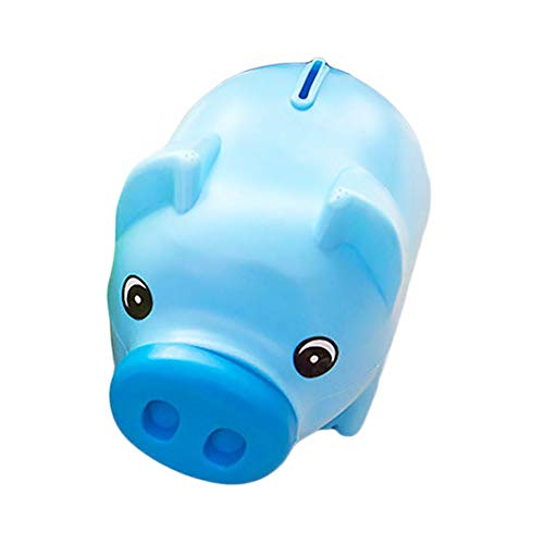 Ruiting Schwein Spardose Blau Animal Design Piggy Bank Kreative Münze Bank-Kasten Kind-Geschenk-Spartopf Pig Money Bank