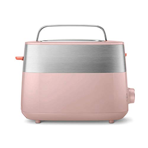 Z-Color 2 Slice tostadoras Extra Ancho Ranura del Tostador Nueva automática compacta Ajustable 8 Niveles de bicarbonato de Nivel for la Cocina Hace el Desayuno (Color : Pink)