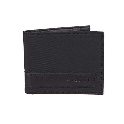 Columbia Men's RFID Blocking Nylon Slimfold Wallet, black, One Size