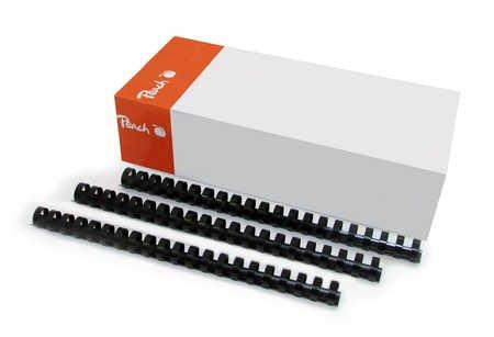 Peach PB420-02 Binderücken 20 mm, A4, 100 Stück, schwarz