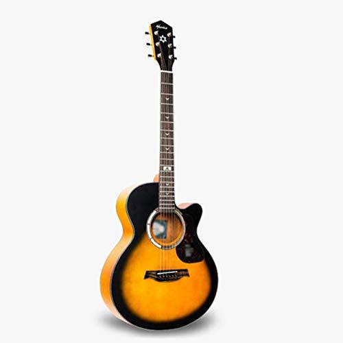 CQILONG Guitarra Acústica Folklórica, El Tono Es Cálido Colores Brillantes, La Frecuencia Intermedia Está Llena, Graves Profundos, El Tono Alto Es Dulce La Calidad Del Sonido Es Clara, Delicado Y Suav