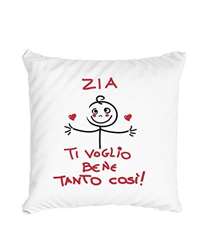 Cuscino Zia - Maschietto Zia Ti Voglio Bene Tanto così - Tshirt Zia - Idee Regalo Zia Nipote - Tshirt Zii Divertenti - Idee Regalo Zii