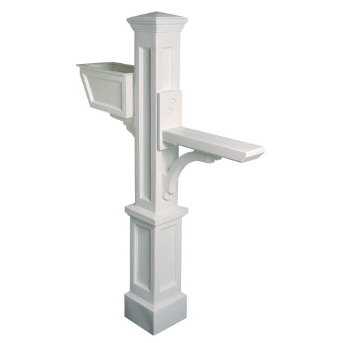 Mayne 5830 CL Westbrook Plus Mailbox Post, White