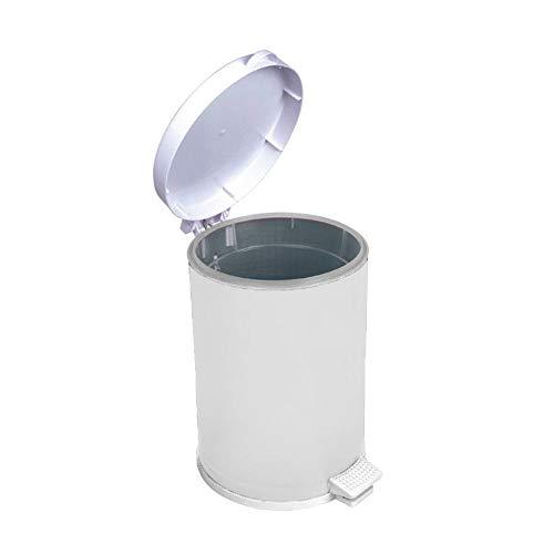 Lixeira Branca Com Pedal Recipiente Plástico 10,5 Lts - Viel