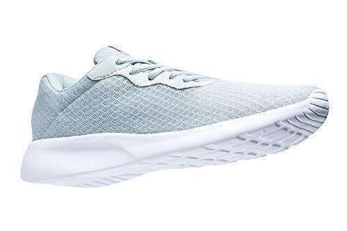 AONVOGE Laufschuhe Herren Schuhe Outdoor Walkingschuhe Straßenlaufschuhe Tennis Turnschuhe Sneaker Joggingschuhe Fitness Leichtgewichts Sportschuhe, Grau 44 EU