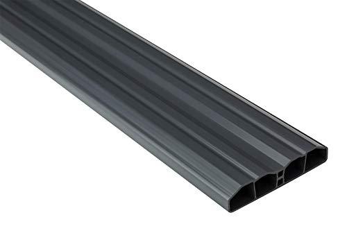 Zaunlatten Sparpaket PZL-31 | widerstandsfähiges Hart-PVC | Kunststoffzaun | Balkonbretter | pflegeleicht | Graphit modern | 80 x 16 mm | Hexim | 10 Meter