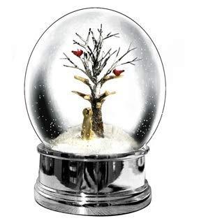 Heaven Sends - Palla di neve natalizia con labrador dorato