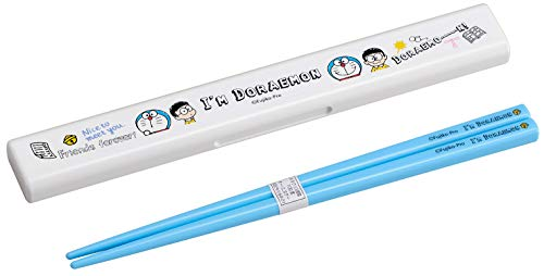 Oh SK Lunch for Chopsticks Blue Chopstick Case: About 20.6 × 3 × Height 1.4cm, Chopsticks: About Doraemon Chopsticks Set 19.5cm HS-12
