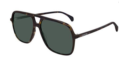 Gucci GG0545S DARK HAVANA/GREEN 58/15/145 zonnebril