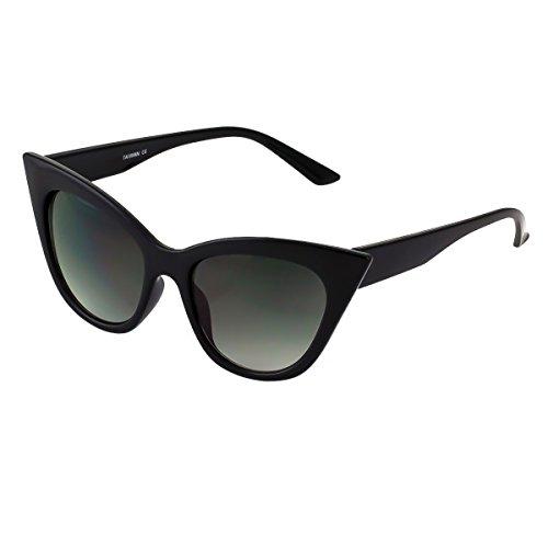 KISS Gafas de sol CAT EYE mod. THICK NIKITA - fashion vintage MUJER glamour rockabilly - NEGRO