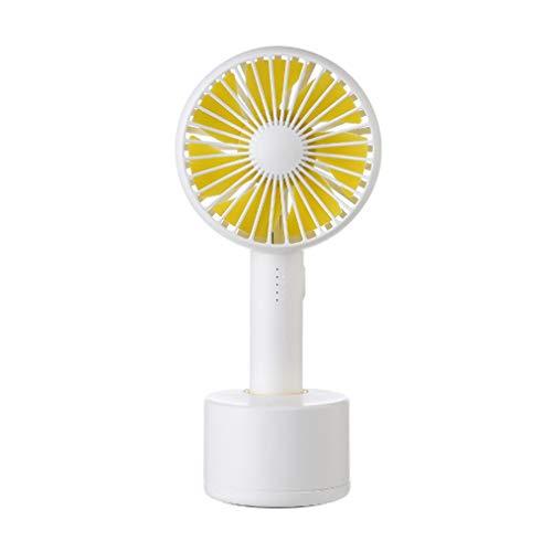 Binghotfire Ventilador de Mano de Carga Ventilador de Gran Capacidad con Cabezal oscilante de 120 Grados Ventilador de 5 velocidades Blanco