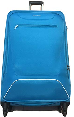 American Tourister Hyperbreez Trolley 4 Wheels Large Color Light Blue Expandable