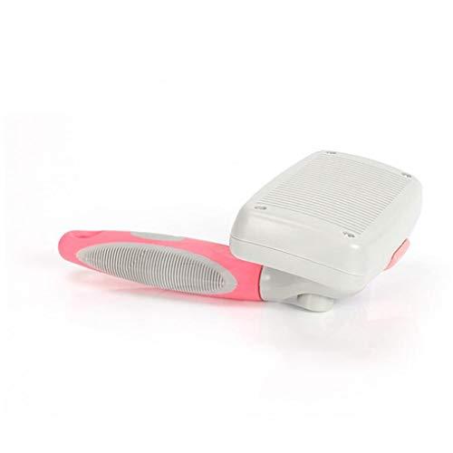 Selbstreinigende Kosmetik Pinsel mit Bonus Pet Grass-cutterfor Hunde und Katzen-Welpen (Pink)