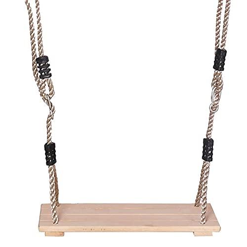 YYDMBH Columpios Asiento de Swing de Madera clásico con Cuerda Fuerte de Columpio Colgante Ajustable Altura for Exteriores al Aire Libre