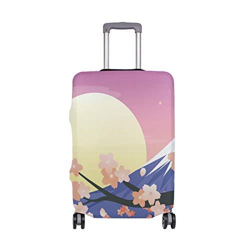 Funda protectora para equipaje de viaje, con montura japonesa, Fuji Cherry Blossoms,...