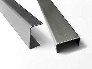 1500mm Aluminium U-Profil 15x60x15mm Abdeckprofil aus Aluminium Riffelblech Duett Tr/änenblech Kantblech kreativ bauen