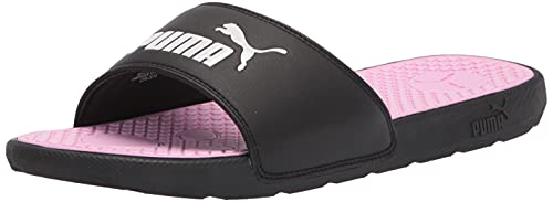 PUMA Women's Cool Cat Slide Sandal, Black White-Pale Pink, 6 M US