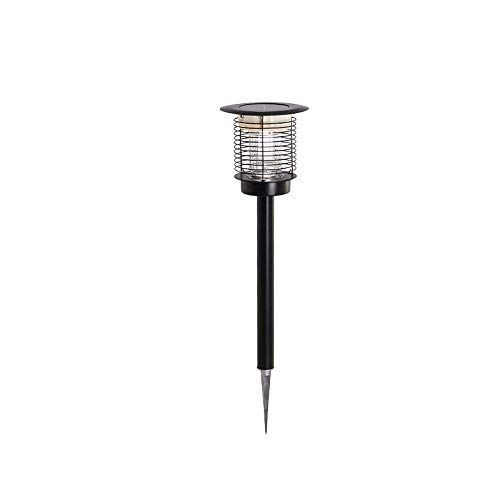 Hines Luz de energía Solar Luz de césped al Aire Libre Lámpara de pie de Hierba Impermeable Mosquito Killer Rayos Ultravioleta Luz de bolardo para jardín Villa Patio