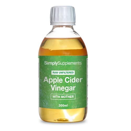 Vinagre de Sidra de Manzana Líquido - 300 ml - ¡Bote para 2 meses! - Apto para veganos - SimplySupplements