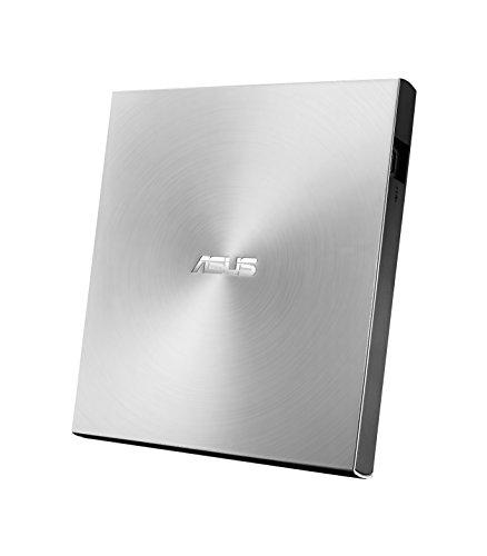 Asus ZenDrive U9M externer DVD-Brenner (für Apple MacBook & Windows PCs/Notebooks, inkl. USB-C Kabel, Brennsoftware & Nero Backup App, M-Disc Support, USB 2.0) silber