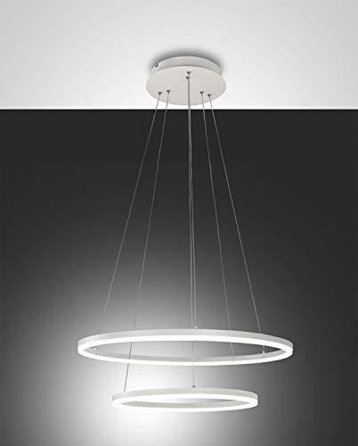 FABAS LUCE 3508-45-102 Giotto - Lámpara de techo LED blanca de metal y metacrilato 52 W 4680 lm regulable blanco cálido