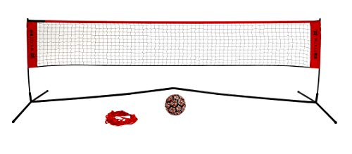 Wicked Big Sports Takraw Juggle Volleyball and Soccer Tennis Portable Outdoor Sports Tailgate Backyard Beach Game