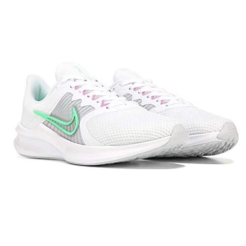 Nike Downshifter 11 - Tenis de correr para mujer, (Blanco/Verde/Lila), 36.5 EU