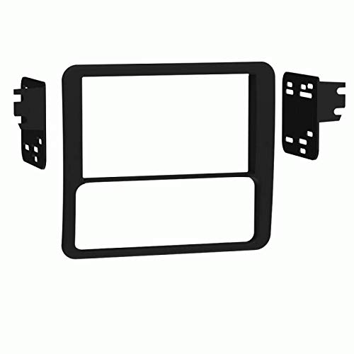 Carxtc Double Din Install Car Stereo Dash Kit for a Aftermarket Radio Fits 1998-2001 Chevy S-10 Pickup and Jimmy Envoy Trim Bezel is Black