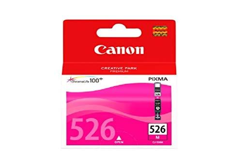 Canon CLI-526 M Cartucho de tinta original Magenta para Impresora de Inyeccion de tinta Pixma MX715-MX885-MX895-MG5150-MG5250-MG5350-MG6150-MG6250-MG8150-MG8250-iP4850-iP4950-iX6550