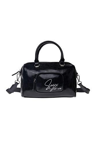 SOCCX Damen Bowling Bag aus Lederimitat