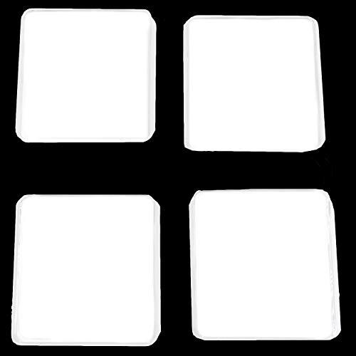 Waschmaschinen Unterlage Schwingungsdämpfer 4 Stück Weiß,Transparent Vibrationsdämpfer Antivibrationsmatte - Plastik Füße für Waschmaschine & Trockner Waschmaschinenzubehör.
