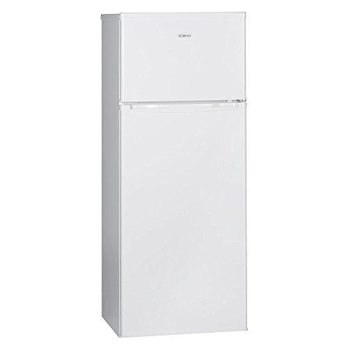 Bomann DT 347 Doppeltür-Kühlschrank / A++ / 144 cm Höhe / 174 kWh/Jahr / Kühlen 170 L / Gefrieren 45 L