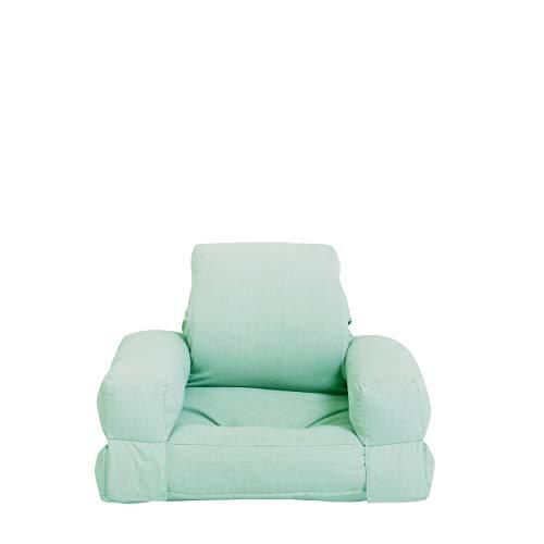 Karup Design Mini Hippo-Sillón diseño de futón y Cama para la habitación Juvenil, Muebles Infantiles en 7 Elegir, Color Relajar. Repetir, 80% algodón, 20% poliéster, Verde Menta, B:65 T:70 H:40