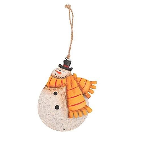 CHRNG Christmas Ornaments Handmade Painted Old Man Snowman Pendant Christmas Tree Decoration Home & Garden Home Decor