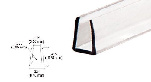 CRL 1/4' Clear Plastic Molding - 12 ft long