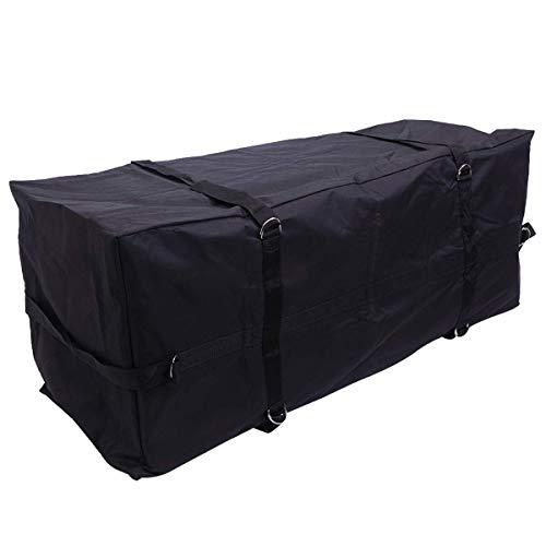 TTX LIGHTING Black Waterproof Cargo Carrier Bag Abrasion Resistant Vinyl 15.5 Cu.ft. Capacity