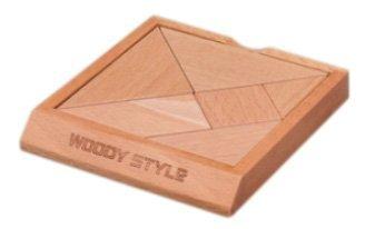 Tangram wooden plate wisdom (japan import)