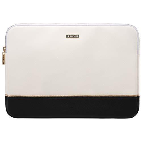 Comfyable Laptop-Hülle für MacBook Pro & MacBook Air 13-13,3 Zoll (33-33,8 cm), wasserabweisend, Elfenbeinfarben / Schwarz