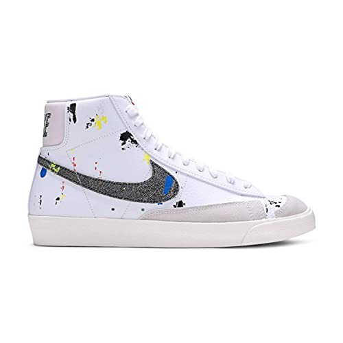 Nike Herren Schuhe Blazer Mid '77 Paint Splatter DC7331-100, White/Black/White/Sail, 44 EU